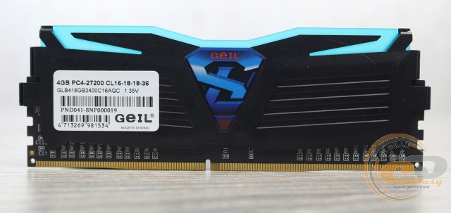 GeIL SUPER LUCE BLUE 3400MHz Quad Channel GLB416GB3400C16AQC